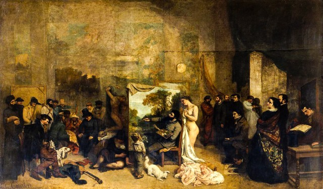 "Gustave Courbet's ""The Painter's Studio."""