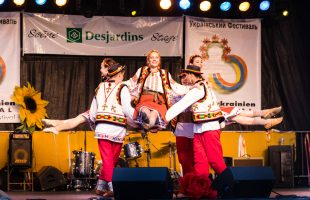 Folk dancing at Montreal's Ukrainian Festival.