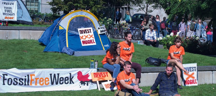 Divest McGill at Community Square on September 21.