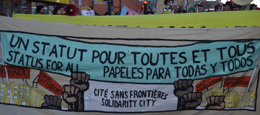 December 13 demonstration outside Prime Minister Justin Trudeau's office.