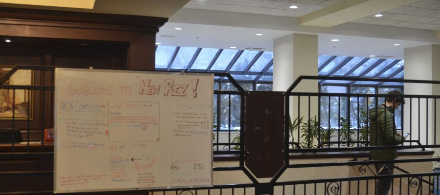 A message board in New Rez, where events including Race Project are advertised.