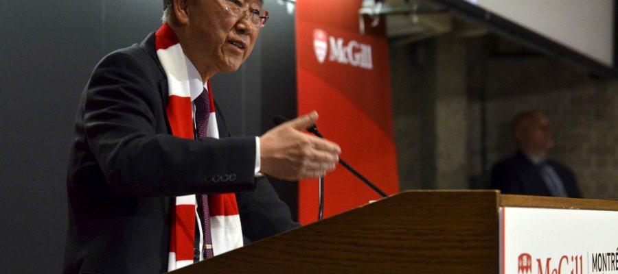 Ban Ki-moon speaks at McGill.