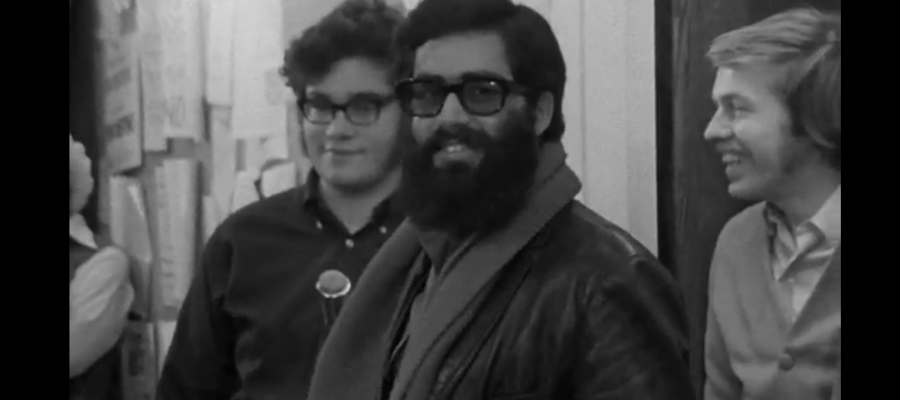 Arnold August in 1968, as seen in the documentary Occupation