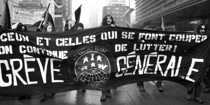 International Women's Day demo, March 2015.