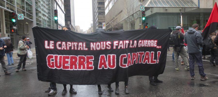 Protestors at May Day