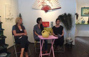 Kimberley Manning, Karen Tam, and Alice Ming Wai Jim at Articule on September 17.